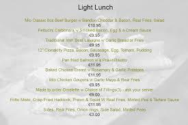 restaurants with light menus mio s restaurant steak house in clonakilty west cork