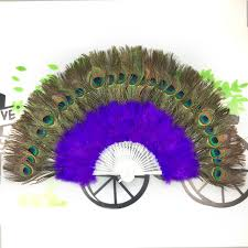 peacock fan new beautiful colorful big 28 peacock feathers fan wedding party