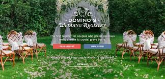 wedding registries online pizza chain wedding registries online wedding registry