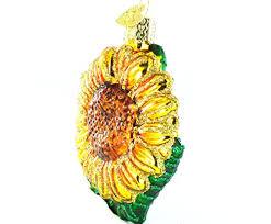 world garden sunflower glass blown