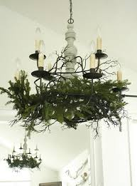Christmas Decorating Ideas Light Fixtures by White Christmas Dining Room Ideas With Creative Chandeliers