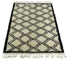 snowdrops copenhagen berber style rug u0027zikzak u0027 creme u0026 black