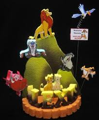 lion cake topper the lion king cake topper centerpiece by adianezh on zibbet