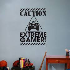extreme gamer vinyl wall art stickers gaming removable wall decals