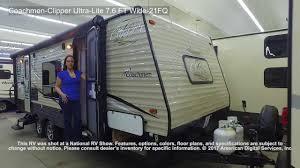 coachmen travel trailer floor plans coachmen clipper ultra lite 7 6 ft wide 21fq youtube