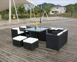 Patio Furniture Dining Set 9 Wicker Rattan Table Set Outdoor Patio Furniture Dining Set