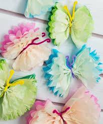 16 diys tutorials how to tissue paper butterflies