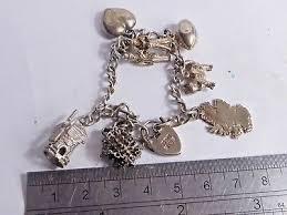 solid silver charm bracelet images Vintage 925 solid silver charm bracelet charms 30 00 jpg