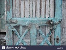 Shabby Chic Hardware by Closeup Of Rustic Blue Shabby Chic Cupboard Door With Metal