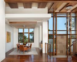 charles p rogers dining room modern with double height space