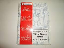 2003 suzuki motorcycle u0026 atv wiring diagram manual models k3