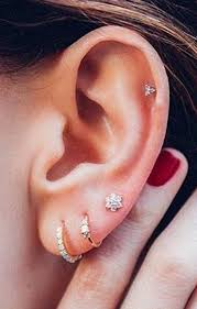 ear piercing earrings these 30 ear piercing ideas cartilage piercing stud
