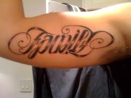 family ambigram on rib in 2017 photo pictures