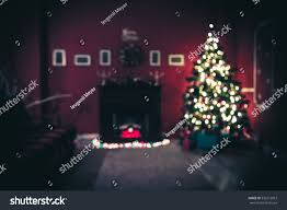 Decorated Christmas Tree Gifts by Beautiful Defocused Background New Year Room Stock Photo 536272957