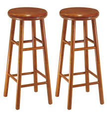 Wooden Swivel Bar Stool 30 Inch Wooden Swivel Bar Stools Cherry Set Of 2 In Wood Bar
