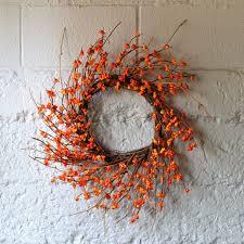 berry wreath orange berry wreath fall wreath door wreath for fall faux wreath