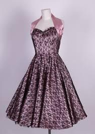 50s halterneck satin wedding dress lace overlay dusky pink black