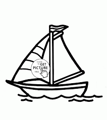 simple small sailboat coloring page for kids transportation
