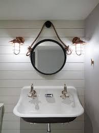 Beachy Bathroom Mirrors by Nautical Beach House Style Basin And Lighting Beach House Style