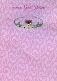 sweet sixteen pink heart gem on silver foil tiara 16th birthday