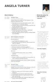 Tutor Resume Examples student tutor resume samples visualcv resume samples database