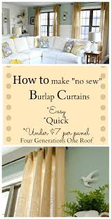 Sewing Draperies How To Make Curtains Using Burlap Burlap Diy Curtains And Tutorials