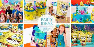 Pink And Yellow Birthday Decorations Spongebob Party Supplies Spongebob Birthday Ideas Party City