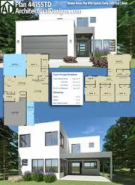plan 44155td modern house plan with upstairs family aka kids