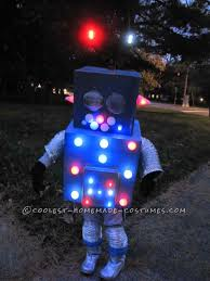 Kids Light Halloween Costume Cool Flashing Blinking Homemade Robot Costume Robot Costumes