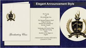 school graduation announcements graduate school invitations the national graduate school