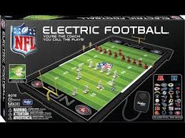 electronic table football game 9072 nfl electric football unboxing video youtube