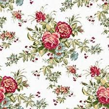 dollhouse miniature shabby chic wallpaper red roses floral flowers