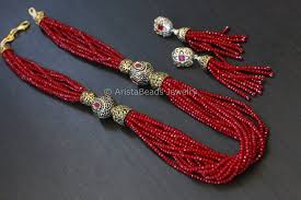 crystal bead necklace jewelry images Contemporary layered crystal beads necklace red aristabeads jewelry jpg