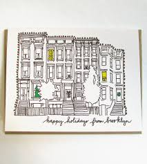 brooklyn brownstone holiday cards 8 pack art cards u0026 stationery