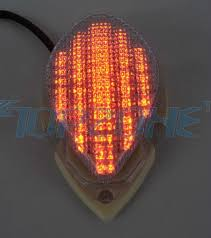 star signal emergency lights led tail light integrated turn signal for yamaha road star 04 08 on