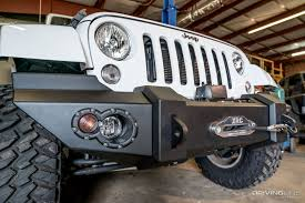 jeep wrangler front bumper fab fours jeep wrangler jk lifestyle front winch bumper review