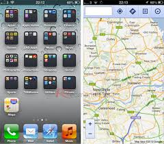 Iphone 5 Symbols On Top Bar Run Google Maps Web App In Full Screen With Original Icon On