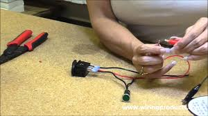 illuminated on off rocker switch with wiring products youtube