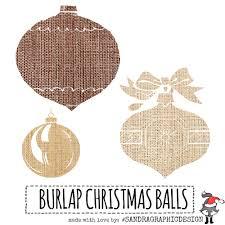christmas clip art u201cchristmas ornament u201d with 9 burlap christmas