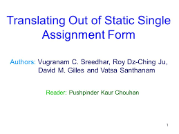 Assignment Form 1 Authors Vugranam C Sreedhar Roy Dz Ching Ju David M Gilles