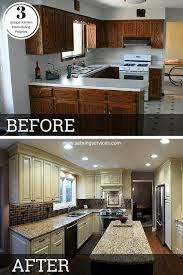 painting a kitchen island best 25 before after kitchen ideas on before after