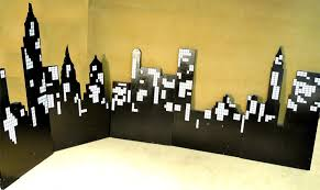 backdrop city large 12 wooden city scape backdrop