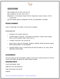 Sample Resume For Mba Freshers by Mba Sample Resume 100 Resume Models For Mba Freshers Resume