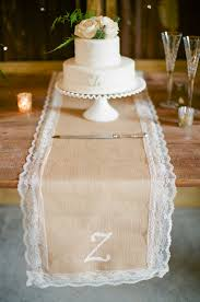 Burlap Lace Table Runner Lace And Burlap Table Runner Elizabeth Anne Designs The Wedding