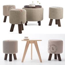 Wood Ottoman Wooden Furniture Fashion Shoes Stool Wood Ottoman Stool Dressing