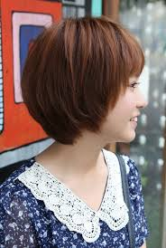 bob haircuts with feathered sides cute korean short haircut layered bob with feathered ends fringe