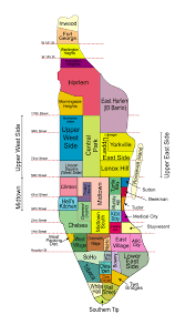 New York Safety Map by Download Map Of Neighborhoods In New York City Major Tourist
