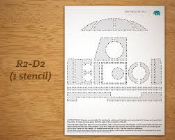 printable pumpkin carving pattern star wars r2 d2