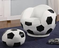 football swivel chair and ottoman set
