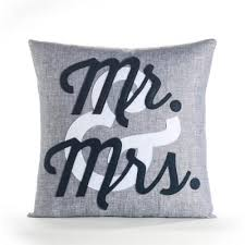 mr and mrs pillow mr mrs pillow 16 x 16 blue linen white and navy